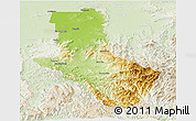 Physical Panoramic Map of Delatite, lighten