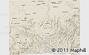Shaded Relief Panoramic Map of Delatite