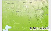 Physical 3D Map of Golden Plains