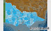 Political Shades Map of Victoria, darken