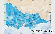 Political Shades Map of Victoria, lighten
