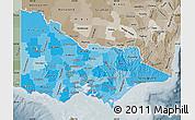 Political Shades Map of Victoria, semi-desaturated