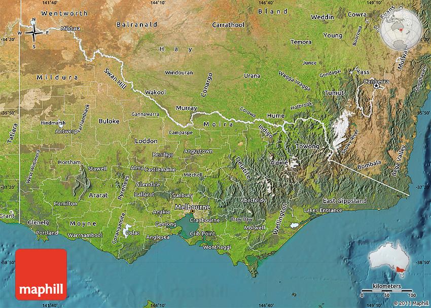 Satellite Map of Victoria