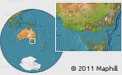 Satellite Location Map of Melbourne