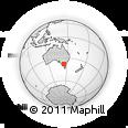 Outline Map of Melbourne