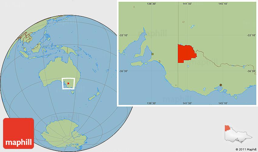 Savanna Style Location Map of Mildura