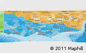 Political Shades Panoramic Map of Victoria