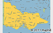 Savanna Style Simple Map of Victoria