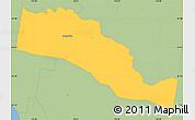 Savanna Style Simple Map of Stonnington