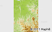 Physical Map of Wangaratta