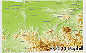 Physical Panoramic Map of Wangaratta