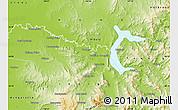 Physical Map of Wodonga