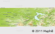 Physical Panoramic Map of Wodonga