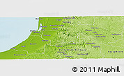 Physical Panoramic Map of Dardanup