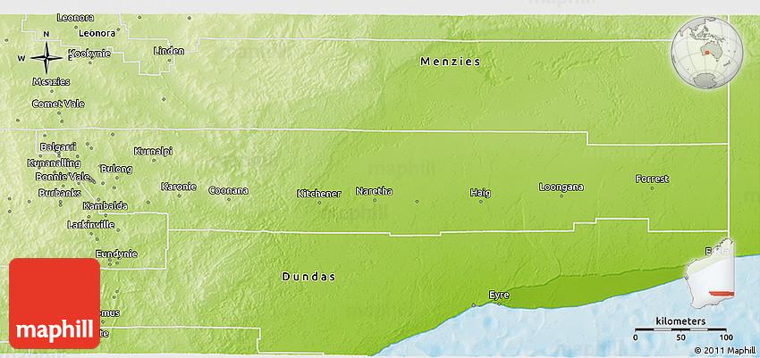 Kalgoorlie Australia Map.Physical 3d Map Of Kalgoorlie Boulder