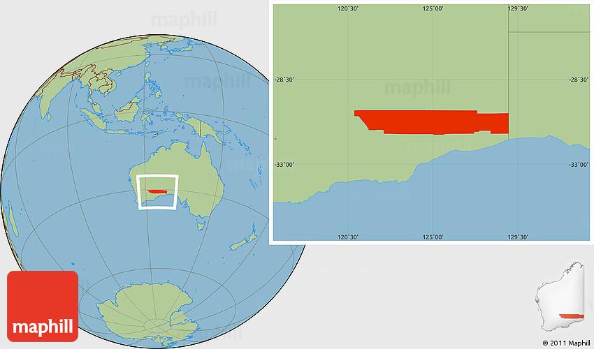 Savanna Style Location Map of KalgoorlieBoulder