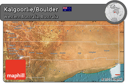 Free Satellite Map of KalgoorlieBoulder