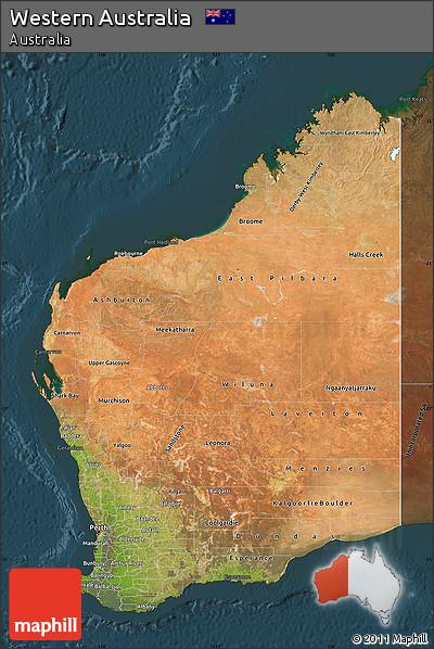 satellite map of western australia