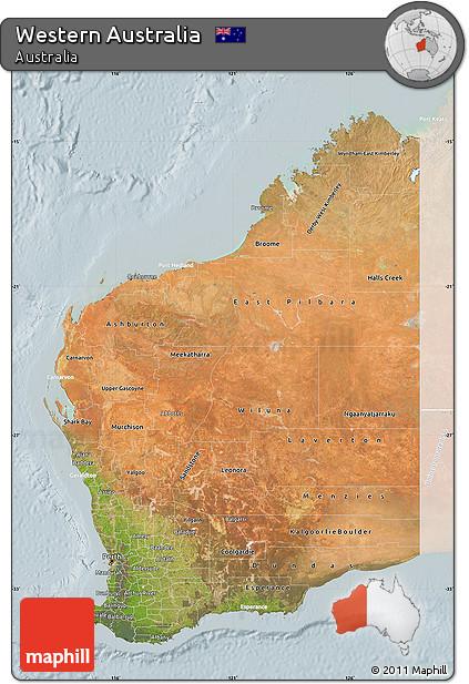lighten satellite map of western australia lighten
