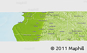 Physical Panoramic Map of Murray