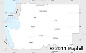 Silver Style Simple Map of Murray