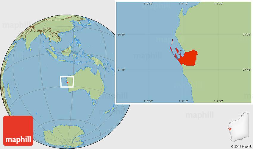shark bay australia map Savanna Style Location Map Of Shark Bay