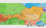 Political Shades 3D Map of Austria