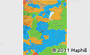 Political 3D Map of Burgenland