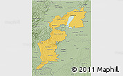 Savanna Style 3D Map of Burgenland