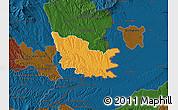 Political Map of Gussing, darken