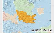 Political Map of Gussing, lighten