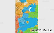 Political Shades Map of Burgenland