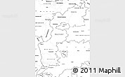 Blank Simple Map of Burgenland