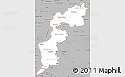 Gray Simple Map of Burgenland