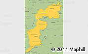 Savanna Style Simple Map of Burgenland