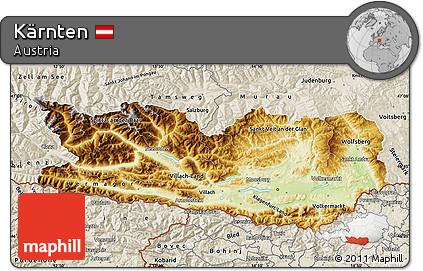kärnten østrig map