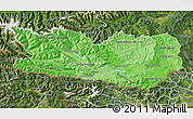 Political Shades Map of Kärnten, satellite outside