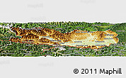 Physical Panoramic Map of Kärnten, satellite outside