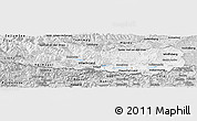 Silver Style Panoramic Map of Kärnten