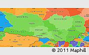 Political Shades Simple Map of Kärnten