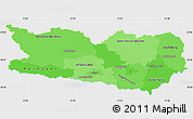 Political Shades Simple Map of Kärnten, single color outside