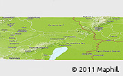 Physical Panoramic Map of Bruck an der Leitha
