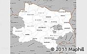 Gray Simple Map of Niederösterreich