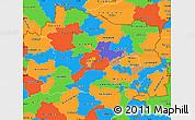 Political Simple Map of Niederösterreich
