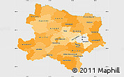 Political Shades Simple Map of Niederösterreich, single color outside