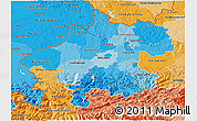Political Shades 3D Map of Oberösterreich