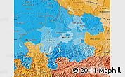 Political Shades Map of Oberösterreich