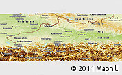 Physical Panoramic Map of Oberösterreich