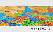 Political Panoramic Map of Oberösterreich
