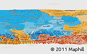 Political Shades Panoramic Map of Oberösterreich